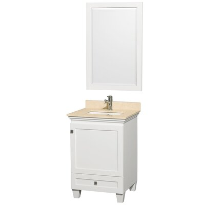 Acclaim 24 Single Bathroom Vanity Set Top Finish: Ivory Marble