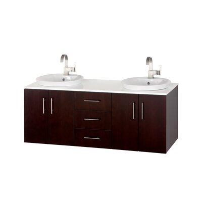 Arrano 55 Double Bathroom Vanity Set with Mirror