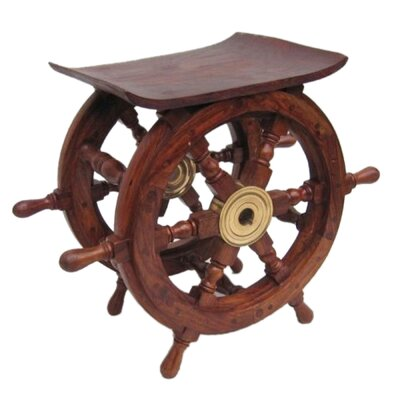 Ship Wheel End Table
