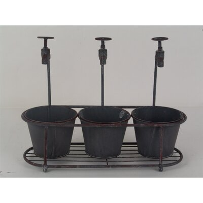 Decorative Faucet Bucket Set of 3