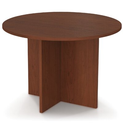 3 6 Circular Conference Table Finish: Bordeaux