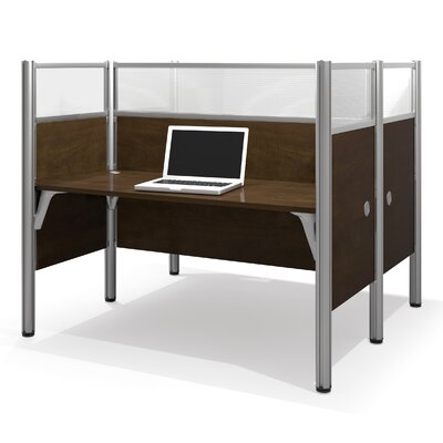 Pro-Biz Double Face-to-Face Workstation with 10 Privacy Panels Finish: Dark Chocolate