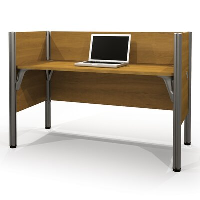 Pro-Biz Simple Workstation with 3 Privacy Panels Finish: Cappuccino Cherry