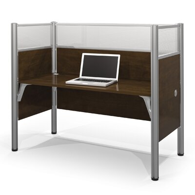 Pro-Biz Simple Workstation with 6 Privacy Panels Finish: Dark Chocolate