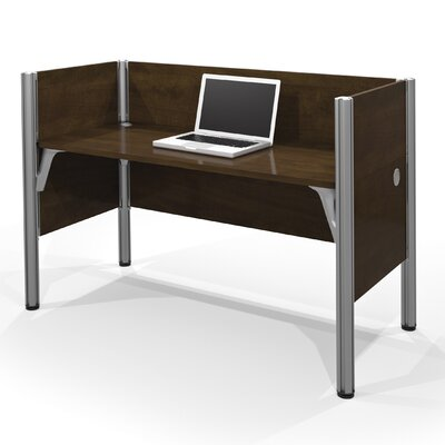 Pro-Biz Simple Workstation with 3 Privacy Panels Finish: Dark Chocolate Product Image 13