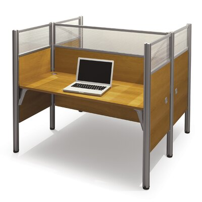 Pro-Biz Double Face-to-Face Workstation with 10 Privacy Panels Finish: Cappuccino Cherry