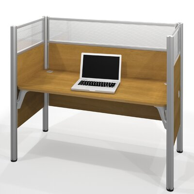 Pro-Biz Simple Workstation with 6 Privacy Panels Finish: Cappuccino Cherry