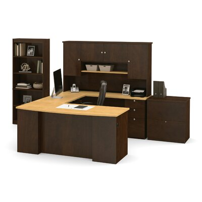 Manhattan 3 Piece U-Shaped Desk Office Suite Product Image 433