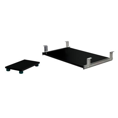 2.8 H x 26.4 W Keyboard Tray with Desk CPU Holder