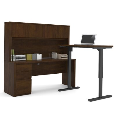 Prestige + Learning Desk with Hutch and Height Adjustable Table Finish: Chocolate Product Picture 7333