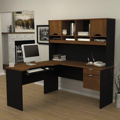 Innova L-Shape Computer Desk with Hutch