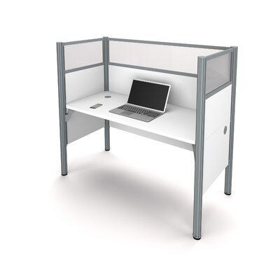 Pro-Biz Simple Workstation with 6 Privacy Panels Finish: White