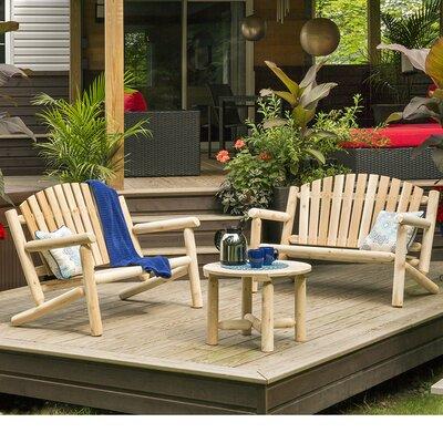 Cedar 3 Piece Bench Seating Group