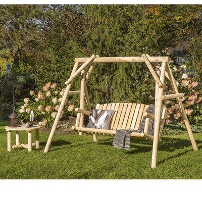 Cedar 2 Piece Swing and Coffee Table Set