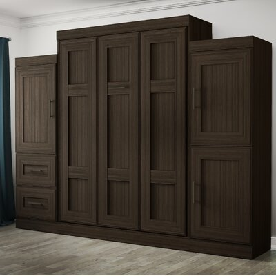 St. Marks Place Murphy Bed Color: Dark Chocolate, Size: Queen
