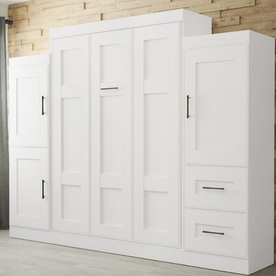 St. Marks Place Murphy Bed Color: White, Size: Full