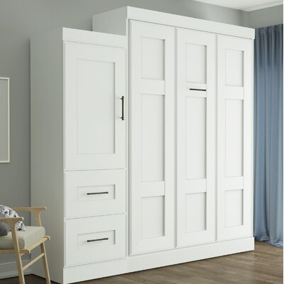 St. Marks Place Murphy Bed Color: White, Size: Queen