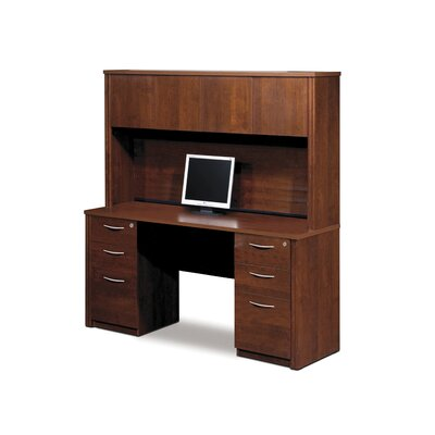 Embassy Credenza And Hutch Kit Including Assembled Pedestals Product Picture 7333