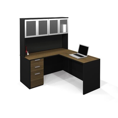 Pro-Concept L-Shaped Desk with Hutch Product Picture 7333