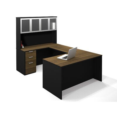 Pro-Concept Executive Desk with High Hutch and Pedestal Product Picture 6583