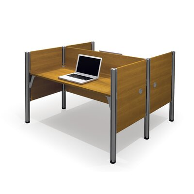 Pro-Biz Double Face-to-Face Workstation with 5 Privacy Panels Finish: Cappuccino Cherry