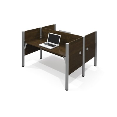 Pro-Biz Double Face-to-Face Workstation with 5 Privacy Panels Finish: Dark Chocolate