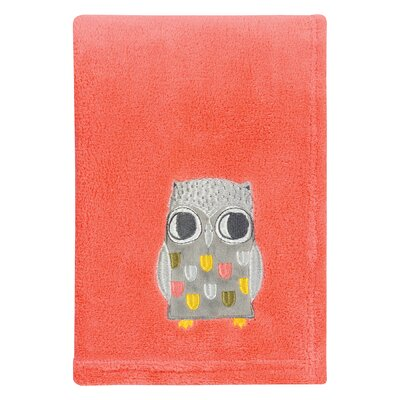 Olive Owl Polyester Baby Blanket