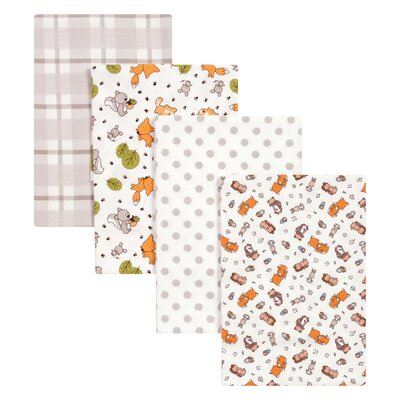 4 Piece Wild Bunch Flannel Blanket Set