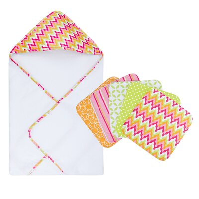 Trend Lab Savannah Bouquet Hooded Towel and Wash Cloth Set at Sears.com