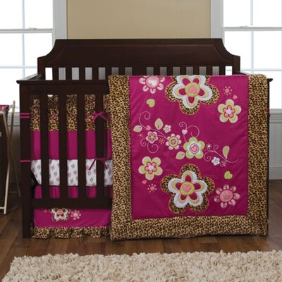Trend Lab Berry Leopard Crib Bedding Set