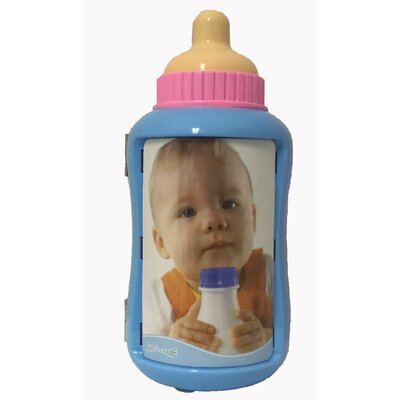 Bottle Picture Frame Color: Blue 13910-1