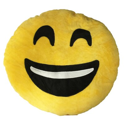 Smiley Face with Teeth Showing Emoji Sofa Cushion