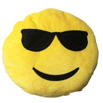Smiley Face with Cool Sunglasses Emoji Sofa Cushion