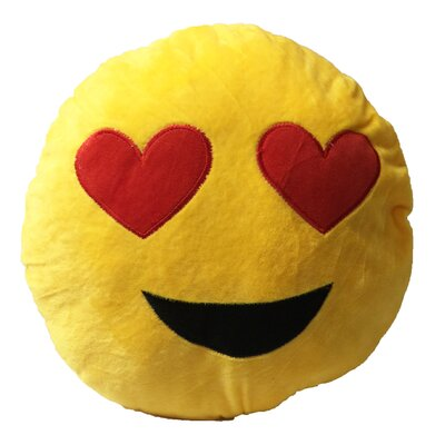 Smiley Face with 2 Heart Eyes Emoji Sofa Cushion