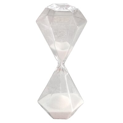 Octagonal Sand Hourglass Color: White