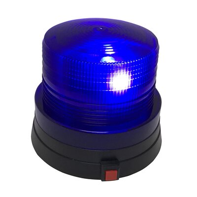 Battery Operated Police Beacon Light with Flashing Bright LED Color: Blue