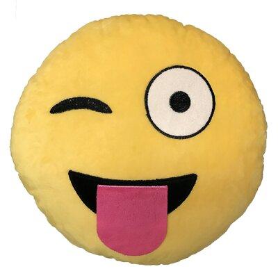 Emoji Tongue Out Eye Wink Throw Pillow