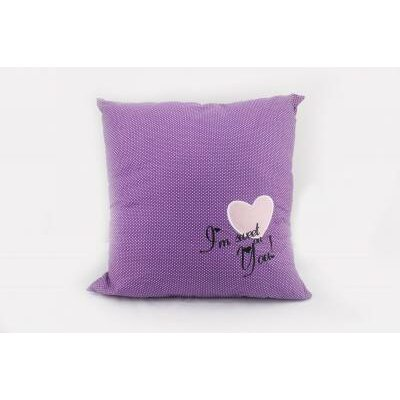 Heart Throw Pillow Color: Purple