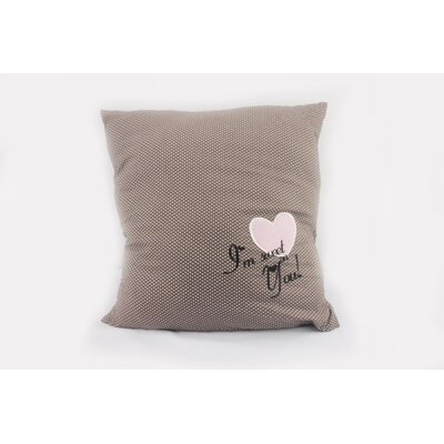 Heart Throw Pillow Color: Brown