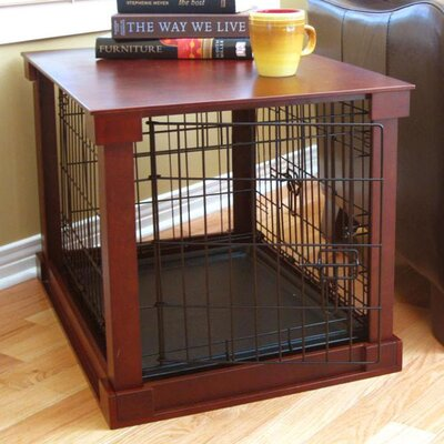 Deluxe Pet Crate in Brown Size: Medium (21 H x 19 W x 30 L)