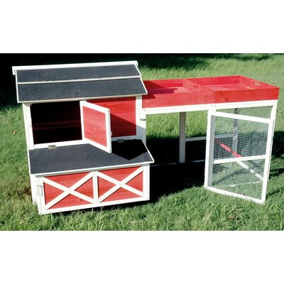 Comet Barn Chicken Coop with Roof Top Planter