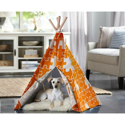 Teepee Dog Bed Color: Orange, Size: Large (39.96 L x 39.96 W)