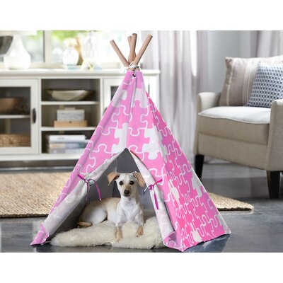 Teepee Dog Bed Size: Medium (29.92 L x 29.92 W), Color: Pink