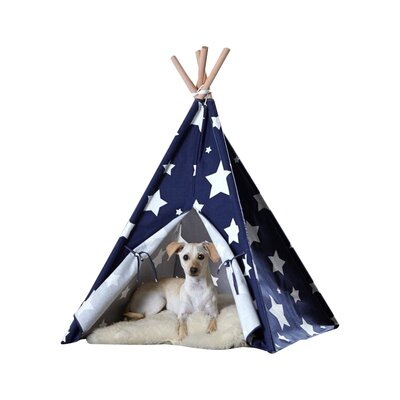 Teepee Dog Bed Size: Large (39.96 L x 39.96 W)