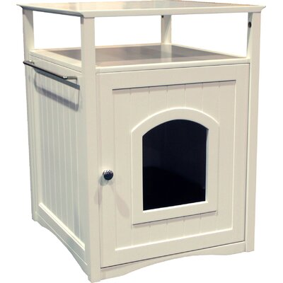 Allen Litter Box End Table Color: White