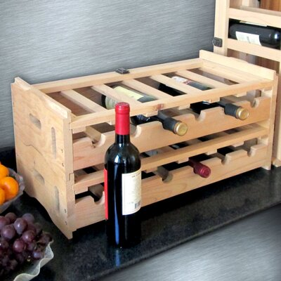 Stacking Wooden Floor Wine Bottle Rack