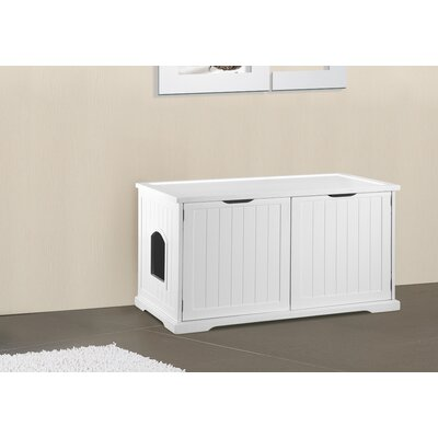 Kitty Litter Box Color: White