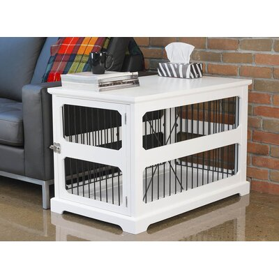 Flint Slide Aside Pet Crate Color: White