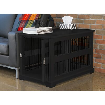 Flint Slide Aside Pet Crate Color: Black