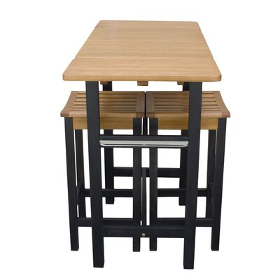 Jeanetta 3 Piece Table Stool Kitchen Island Set